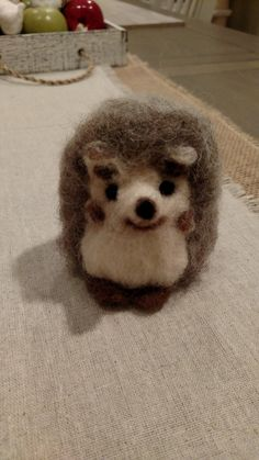 Check out this item in my Etsy shop https://www.etsy.com/listing/251627475/wool-felted-hedgehog