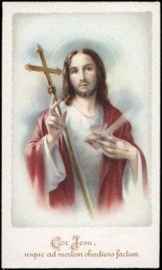 "santino-holy card""""ediz. NB serie N n.6 S.CUORE DI GESU'"