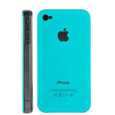 Light Blue Replicase Hard Crystal Air Jacket Case for AT iPhone 4 4G 16GB 32GB GSM, (verizon, at t, cover, slim)