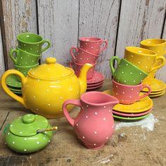 Ready to ship... Decoration Piece, Handicraft, Espresso, Tea Pots, Cups, Ship, Rustic, Traditional, Tableware