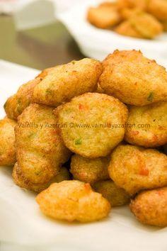 Bacalaitos una deliciosa receta de cuaresma/ Cod fritters a lent dish. Fuente: Vainilla y Azafrán