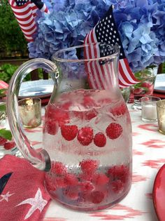 4th of july pitcher cocktails
