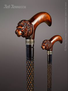 """Walking stick """"Leo Hennessy"""" The king of beasts - handmade. Handmade Walking Sticks, Hand Carved Walking Sticks, Wooden Walking Canes, Wooden Canes, Walking Sticks And Canes, Wooden Walking Sticks, Cannes, Stick Art, Virtual Museum"""