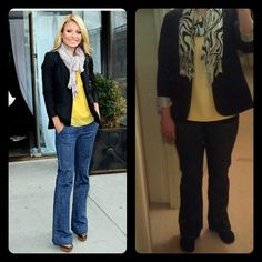 Blazer-Target Yellow Tank Top-Calvin Klein Outlet Jeans-T.J. Maxx Animal Print Scarf-T.J. Maxx Black Toms