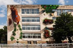 Mural painting on 23SOU for the project Bear Favor by 140ideas in Sofia, Bulgaria