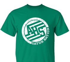 High School Impressions search Distressed AHS Gators Spirit Wear T-Shirts- Create your own design for t-shirts, hoodies, sweatshirts. Choose your Text, Ink and Garment Colors. Cheer Shirts, Pride Shirts, Sports Shirts, Band Shirts, School Spirit Wear, School Spirit Shirts, School Tshirt Designs, School Hoodies, Sport Shirt Design