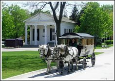 Carriage ride at Greenfield Village - 7 different historic districts by… Dearborn Michigan, Henry Ford Museum, Horse Drawn, Town Hall, Historic Homes, Main Street, Us Travel, Childhood Memories, Places Ive Been