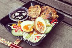 Nanban lunch box: Japanese noodle salad with chicken