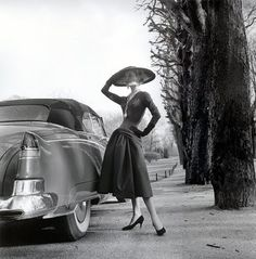 Ciao Bellissima - Vintage Glam; Model wearing Jacques Fath, Paris 1955