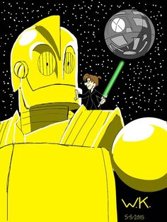 the iron giant/c3po (star wars) crossover