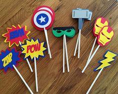Die Cut Super Hero Cupcake Toppers superhero batman by BabyBinkz