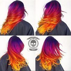 Com as cores do céu: jovens deixam os cabelos e sobrancelhas radiantes - Mega Curioso