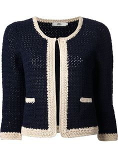 Comprar 0039 Italy cropped crochet cardigan en  from the world's best independent boutiques at farfetch.com. Shop 300 boutiques at one address.