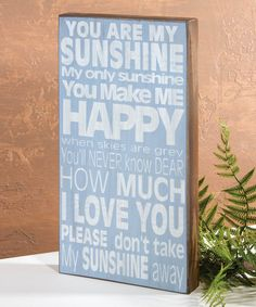 Look what I found on #zulily! 'My Sunshine' Wall Sign by Ohio Wholesale, Inc. #zulilyfinds