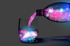 Cocktail that Glows like the Aurora Borealis