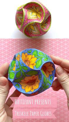 Triskele Paper Globes | Stunning handmade 3D Ornaments