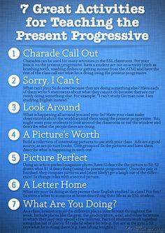 7 Great Activities to Teach the Present Progressive | Busy Teacher
