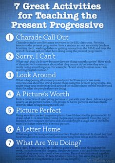 7 Great Activities to Teach the Present Progressive   Busy Teacher