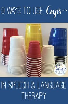 Quick and easy ways to use cups in speech and language therapy.