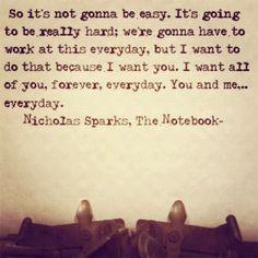Nicholas Sparks: the notebook