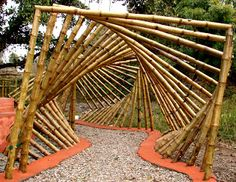 maDe in BambOo: public utility and bamboo maDe in bamboo: gemeinnützig und bambus Bamboo Art, Bamboo Crafts, Land Art, Garden Art, Garden Design, Bamboo Building, Bamboo Structure, Cell Structure, Bamboo Construction