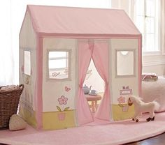 Decor/Accessories - Cottage Playhouse | Pottery Barn Kids - cottage playhouse, indoor playhouse, girls playhouse, canvas playhouse,
