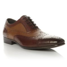 DUNE MENS -  AMORE - Mix Material Formal Lace Up Brogue by Dune, online at Dune London #dunelondon #dune #fashion #mens #style #brogue #footwear #shoes #aw13
