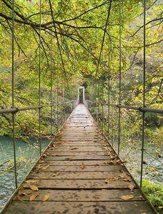 Puente colgante en Galicia