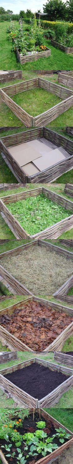 construction pour carré de potager