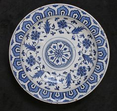Dish Date: 16th century Geography: Turkey, Iznik Culture: Islamic Medium: Stonepaste; painted and glazed Dimensions: Gr. H. 2-1/4 in. (5.7 cm) Diam. 11 in. (27.9 cm) Classification: Ceramics Credit Line: Purchase, Louis E. Seley Gift, 1971 Accession Number: 1971.23