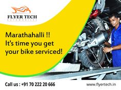 Have an awesome weekend and give your bike the same too :) Get super service at discounted prices in our Service Center in Marathahalli (y) Call us: +91 70 222 20 666