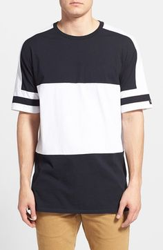 ZANEROBE 'Lineback' Longline Colorblock T-Shirt available at #Nordstrom