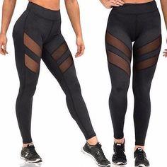 Mulheres Esporte Leggings Yoga calças com bolsos Jogging treino de corrida Leggings estiramento alta Elastic Gym calças justas mulheres Legging