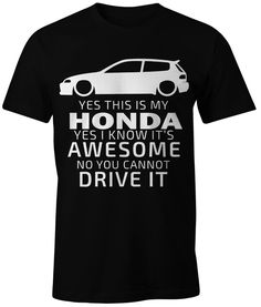 NEW HONDA CIVIC T-SHIRT AWESOME 100% COTTON PERSONALIZED TEE #Unbranded #PersonalizedTee
