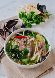 Pho (Vietnamese Noodle Soup) - The Woks of Life Beef Noodle Soup, Beef And Noodles, Vietnamese Recipes, Asian Recipes, Ethnic Recipes, Vietnamese Noodle, Asian Desserts, Healthy Soup Recipes, Cooking Recipes