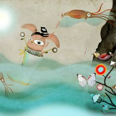 #underwater #The_end_of_the_world #Art #navigation #bunny #habitat