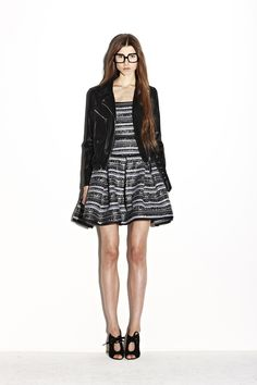 Milly PFa2013 Look 21  Almost reminiscent of Chanel with wovens and classic silhouette. Edgy girly.