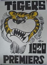 RICHMOND TIGERS AFL - WEG 1920 PREMIERS POSTER