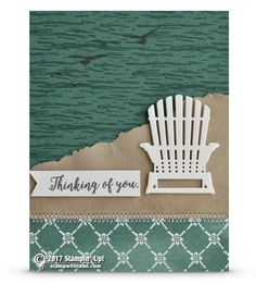 SNEAK PEEK: Thinking of You Beach Chair Card from Colorful Seasons Stamp Set | Stampin Up Demonstrator - Tami White - Stamp With Tami Crafting and Card-Making Stampin Up blog