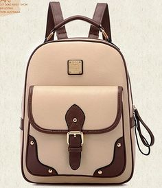 New 2015 High Quality Brand Patchwork Women Backpacks Mochila Women's PU Leather Backpack Travel bag School Backpack