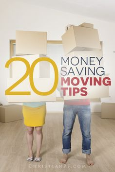 "20 #moving tips to save money - http://christianpf.com/money-saving-moving-tips/...Moving is one of the most stressful events in one's life.  From the packing to the organizing and more, there's just so much to do and to think about.  And, we cannot forget about the costs involved.  Whether you're a ""do it yourself,"" type... or if you hire a moving company, there will be costs involved no matter how you decide to move..."