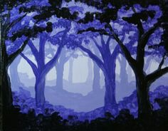 Enchanted-Mist Large to use as inspiration of forest for Red Riding Hood lesson Mehr Monochromatic Paintings, Monochrome Painting, Value In Art, 6th Grade Art, Forest Painting, School Art Projects, Middle School Art, Elements Of Art, Art Lesson Plans