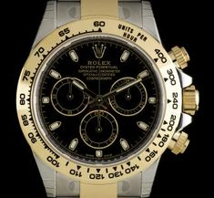 rolex s g unworn o p black baton dial cosmograph daytona bp 116523 An Unworn Stainless Steel and Yellow Gold Oyster Perpetual Cosmograph Daytona Gents Wristwatch, black dial with applied index batons, 30 minute re - Watchcentre Rolex Daytona Watch, Rolex Cosmograph Daytona, Rolex Submariner, Rolex Watches, Used Rolex, Rolex Explorer, Pre Owned Rolex, Vintage Rolex, Jewerly