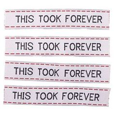 Sublime Stitching woven labels, awesome!
