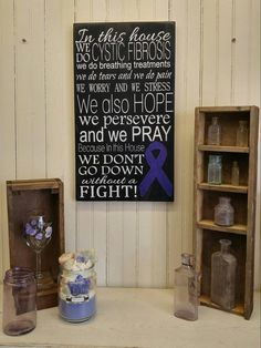 Cystic Fibrosis Inspirational Sign by ThePaintedSignCo on Etsy