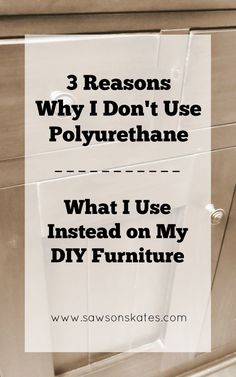 Polyurethane is too finicky, the application is difficult and it doesn't give the look I want for my DIY furniture projects. Instead, I use an easy to an easy to make DIY top coat that provides a flawless finish every time!