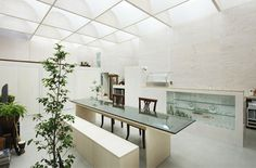 View in gallery natural light house plans 1 natural light house plans illuminating japanese architecture Luz Natural, Natural Light, Yokohama, Architectural Section, Modern Mansion, Mansions Homes, Japanese Architecture, Japanese House, Beautiful Interiors