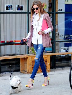 Star Tracks: Monday, March 24, 2014 | TWO OF A KIND | Not even a dog walk will keep the stylish Olivia Palermo out of her heels! The socialite and fashion blogger heads out with her pooch on Thursday in Brooklyn, N.Y.