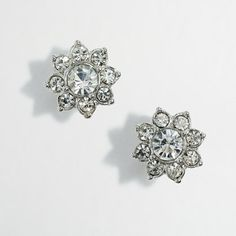 JCrew Factory crystal flower stud earrings  - these look so much like my engagement ring!