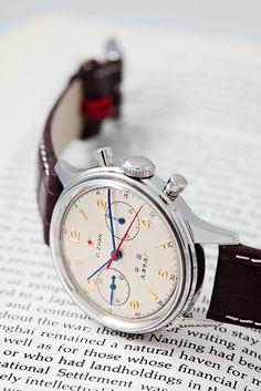 Uhren: Sea-Gull 1963 Air Force Chronograph Neuauflage - Vintage watches for men Elegant Watches, Stylish Watches, Luxury Watches, Vintage Watches For Men, Vintage Rolex, Amazing Watches, Cool Watches, Men's Watches, Boyfriend Watch